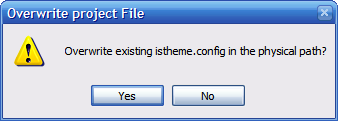Confirm Overwriting